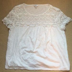 Lace top tee